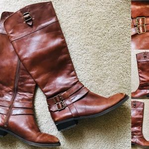 Chic INC Leather RIDING BOOTS Size 8M